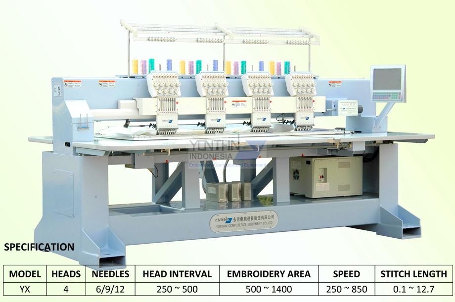 Jual mesin Bodir - Distributor mesin Bordir Jogja YX904