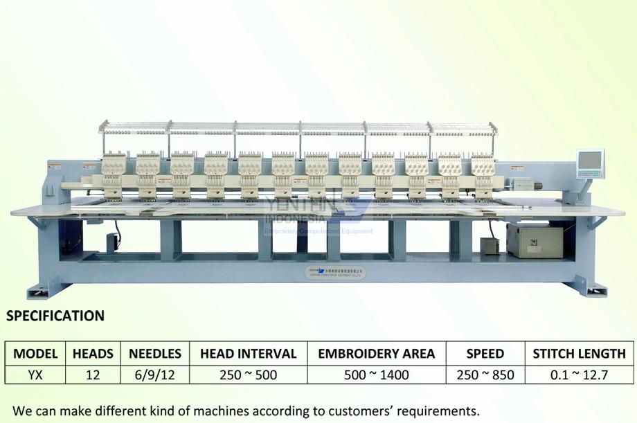 Jual mesin Bodir - Distributor mesin Bordir Jogja YX912