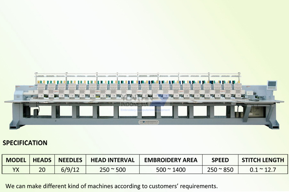 Jual mesin Bodir - Distributor mesin Bordir Jogja YX9201